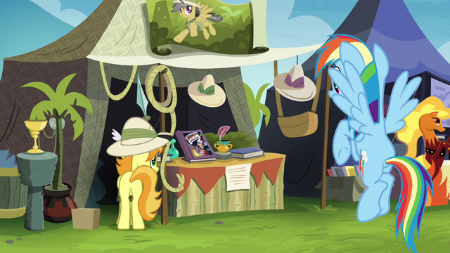 File:Rainbow near the Daring Do collector's stall S4E22.png