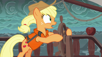 "Applejack ""we need to change course!"" S6E22"