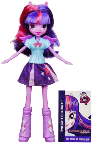 File:Twilight Sparkle Equestria Girls show attire doll.png