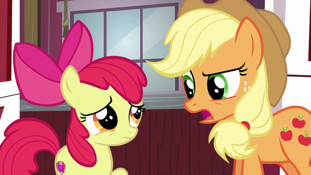 "File:Applejack ""the Apples win most traditional"" S6E14.png"