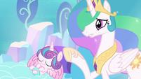 "Celestia ""than that of a newborn unicorn!"" S6E1"