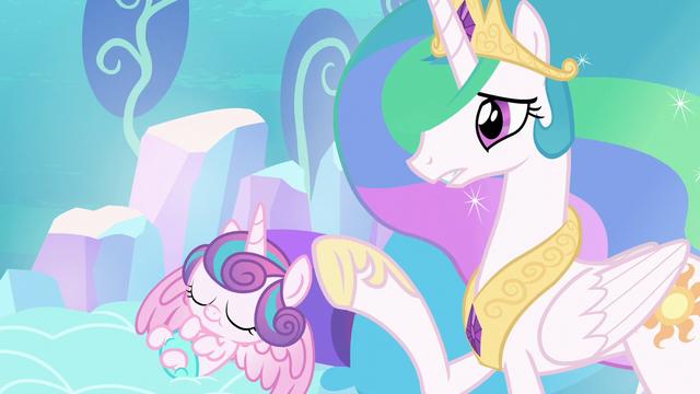 "File:Celestia ""than that of a newborn unicorn!"" S6E1.png"