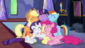 Mane Six in a group hug S7E14.png