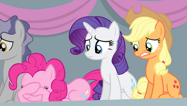 File:Pinkie, Rarity, and Applejack worried S4E24.png