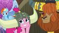 Pinkie Pie admiring her honorary yak horns S7E11.png