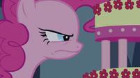 Pinkie Pie keeping a close eye on MMMM S2E24