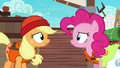 Applejack and Pinkie look at each other uncertain S6E22.png