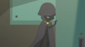 Cloaked figure smirking at Rainbow Dash EGS2.png