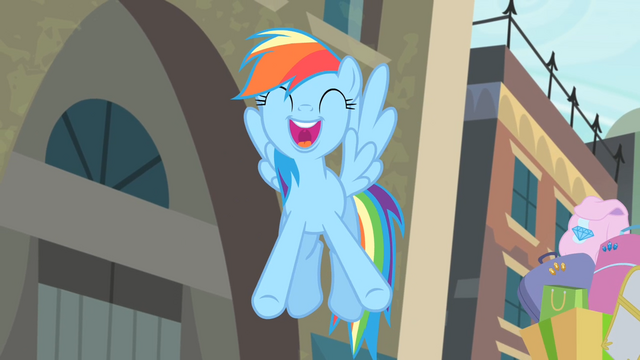 File:Rainbow '...the best musical in all of Equestria!' S4E08.png