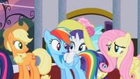 Rarity hide by Rainbow Dash S2E9