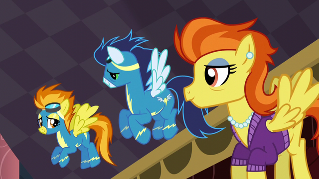 File:Soarin and Stormy Flare looking at Spitfire S5E15.png