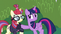 Twilight about to pull Moon Dancer into a hug S5E12.png