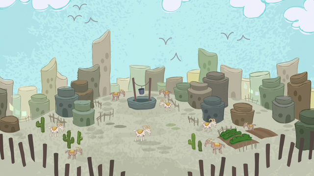 File:Desert village in Pinkie Pie's story S7E11.png