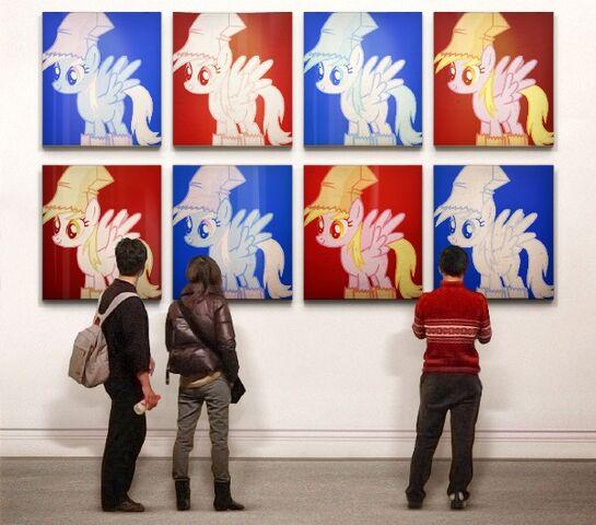File:FANMADE Derpy hooves in art gallery.jpg