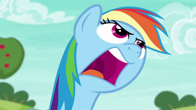 "File:Rainbow Dash shouting ""come on!"" S6E18.png"