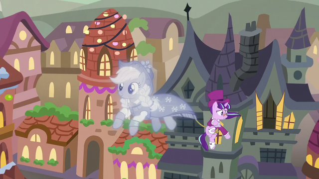 File:Snowfall looks at her house while being pulled by Past S06E08.png