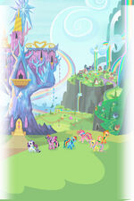 MLP Friendship Rainbow Kingdom background