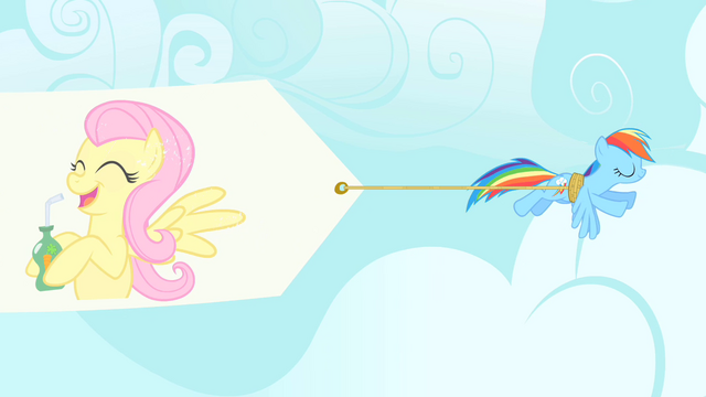 File:Rainbow Dash pulling banner S1E20.png