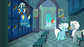 The Wonderbolts in the academy locker room S7E7.png