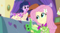 Twilight compliments Fluttershy on her song EG2.png