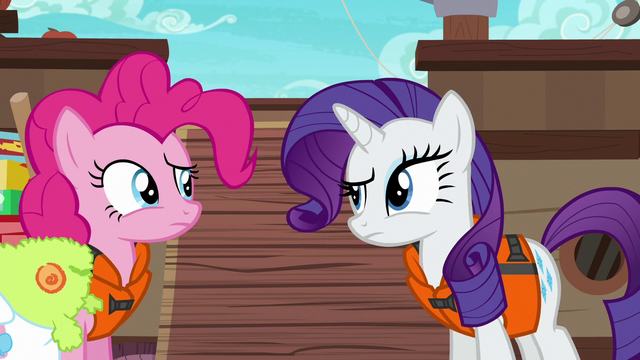 File:Pinkie and Rarity look at each other confused S6E22.png
