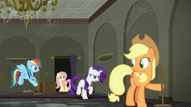 """File:Rarity """"I can't have a family of rubbish-scented raccoons"""" S6E9.png"""