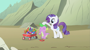 Rarity patting Spike S1E19.png