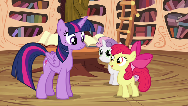 """File:Apple Bloom """"learn these new skills, Twilight"""" S4E15.png"""