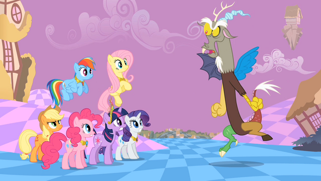 File:Main ponies Discord Just Make it Quick S2E2.png