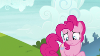 Pinkie looks down at Starlight and Maud S7E4