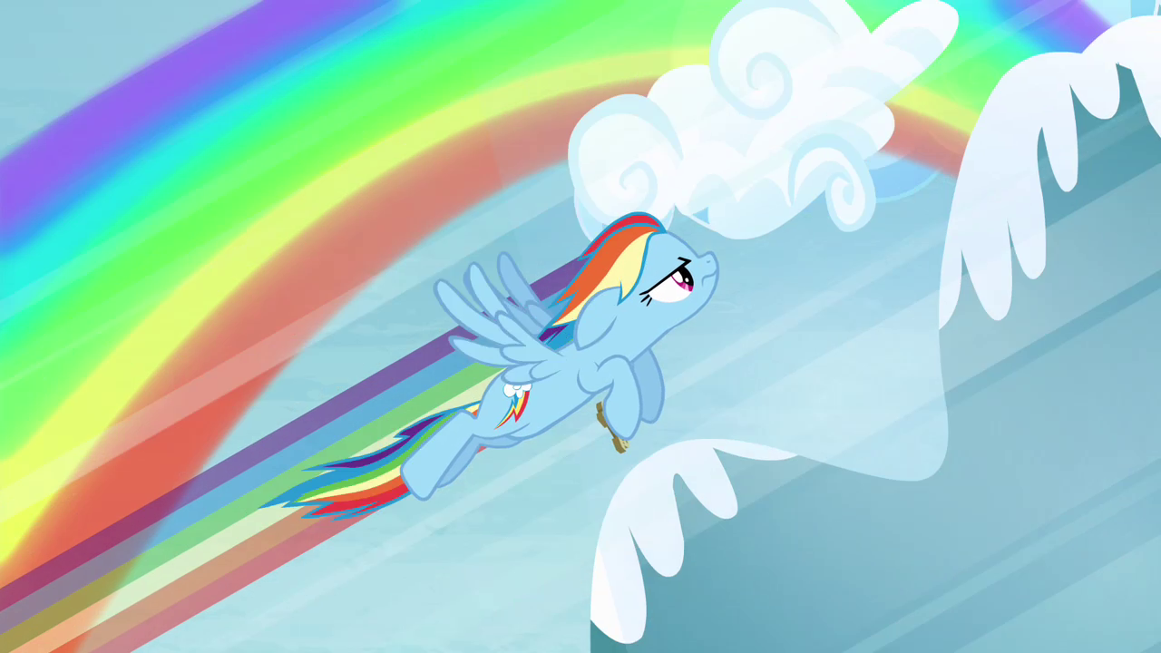 Image - Rainbow Dash flying high up S4E10.png | My Little ...