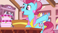 "Mrs. Cake ""whipping up pear upside-down cake"" S7E13.png"