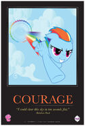 """Rainbow Dash """"Courage"""" poster from ComicCon 2012"""