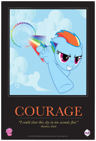 "File:Rainbow Dash ""Courage"" poster from ComicCon 2012.jpg"