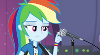 Rainbow hitting the microphone EG2