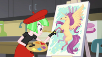 Watermelody painting an Alicorn EG3