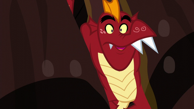 File:Garble gets stuck between two spikes S6E5.png