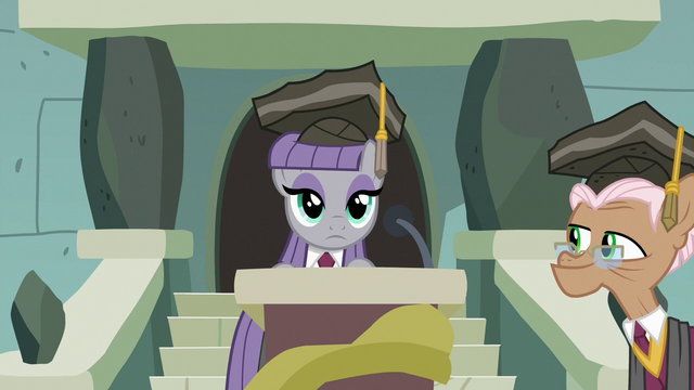 File:Maud Pie takes the stage podium S7E4.png