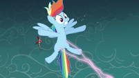Rainbow Dash struck by magic S3E5