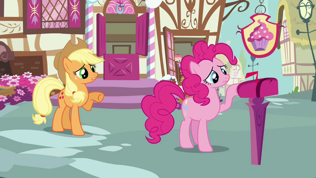 File:Applejack 'Rainbow Dash hasn't even been gone twenty-four hours yet' S3E07.png