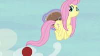 Applejack flings the ball toward Pinkie S6E18