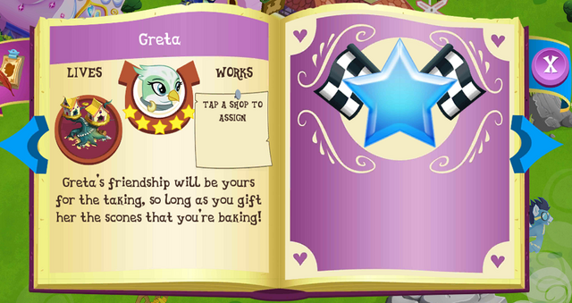 File:Greta album page MLP mobile game.png