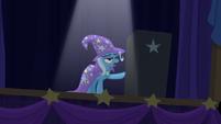 Trixie pointing to the black box S6E6