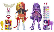 Twilight Sparkle and Sunset Shimmer Equestria Girls dolls