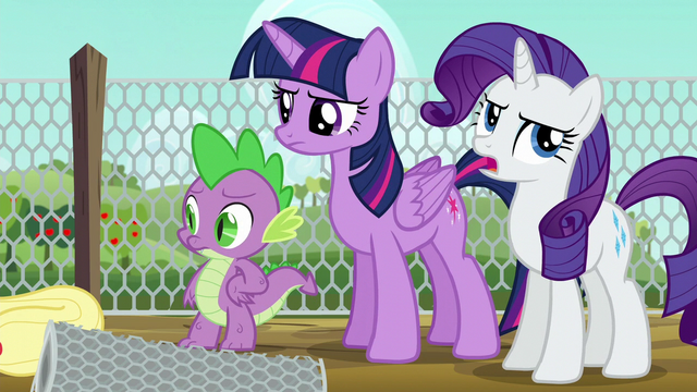 File:Twilight annoyed; Rarity rolls her eyes again S6E10.png