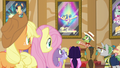 Applejack and Fluttershy hear barker pony S6E20.png