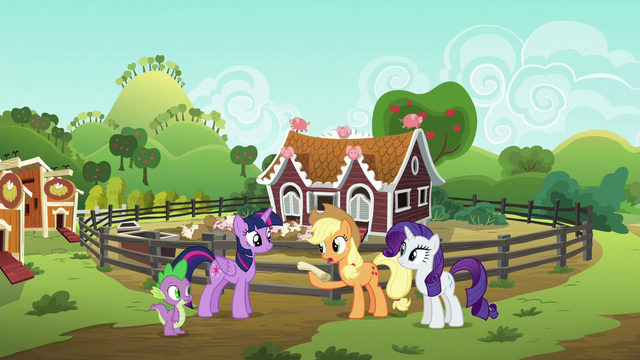 File:Applejack giving Twilight the pig-feeding checklist S6E10.png