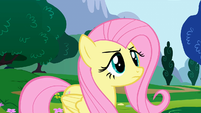 "Fluttershy right before ""loudest"" yay S1E16"