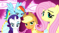 Main ponies unamused by Spike S5E13.png