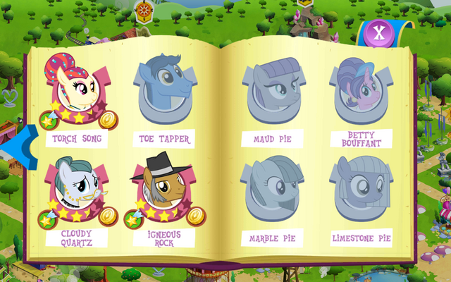 File:Pony Tones, Pie family, and Betty Bouffant album art MLP mobile game.png